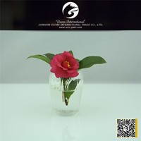 Factory price reversible trumpet clear glass vase for flowers