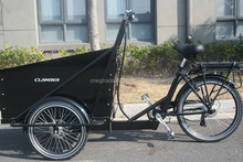 Family three wheel transport bike /electric cargo bicycle