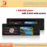 3 inch wide screen 1 din car dvd player with high-definition digital color