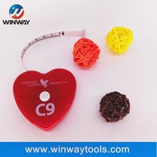 Soft heart-shaped BMI gift tape <strong>measure</strong> with logo customized/ body <strong>measuring</strong> tape tailor