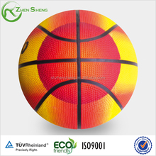 Zhensheng fire picture printing rubber basketball