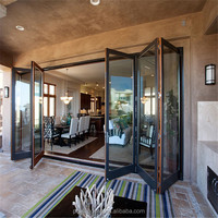Toughened Glass Aluminium Bifold Doors Folding