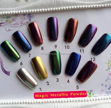 The Newest ! High Quality Nail Gel Polish mirror chrome powder coating for Nail paint