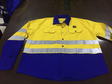 Hi vis working uniform jacket security cotton reflective jacket