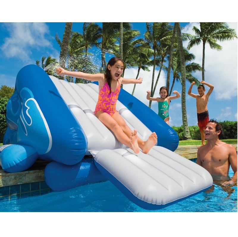 big inflatable water slide and swimming pool slide for adult