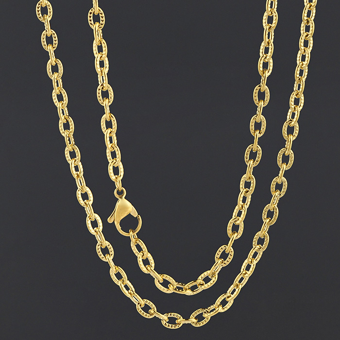 Wholesale Fashion Jewelry Customized Silver Gold Plated Color Jewellery Metal Chain
