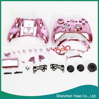 Cheap For XBOX 360 Controller shell + Button Plating Light Pink CKD