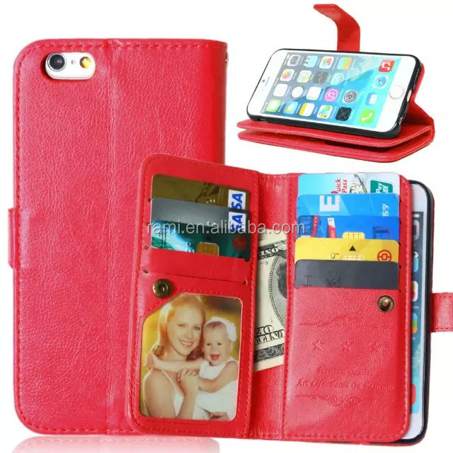 High Quality Sublimation Flip Leather mobile phone wallet case