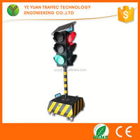Traffic Safety Solar Led Red Green Removable Beacon Light