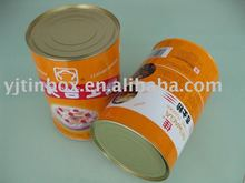 food safe metal milk powder can with plastic cover