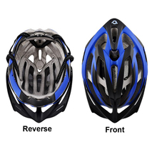 Shenzhen Factory Cycling Bike Bicycle MTB Helmet Blue White Ultralight Integrally-molded Helmet
