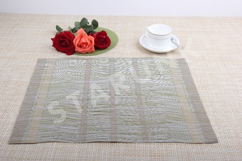 high quality new fashion placemats/pvc cup mat/Polyester and vinyl table mat