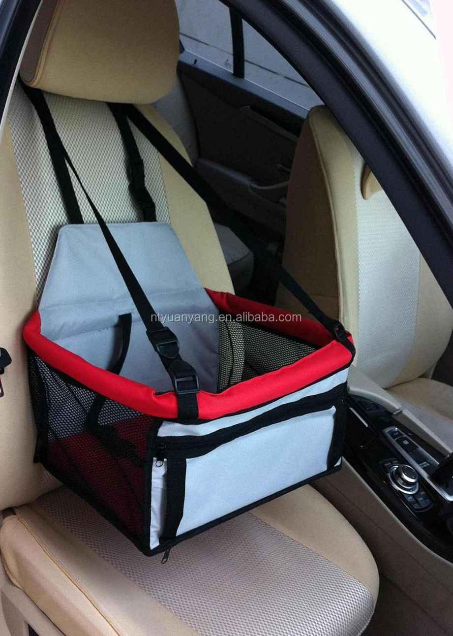 fabric dog booster carrier for car