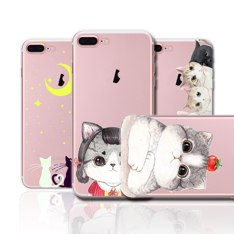Cat patterns case For iPhone 7, Cheap TPU Phone Case For iphone 7 case