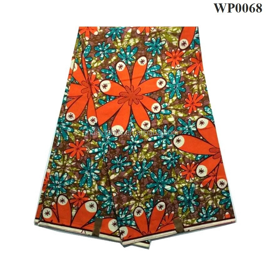 2016 super hollandais wax african clothing 100%cotton printed fabric/ African Wax Print Fabric Super Wax Fabric 6 yards WP0068