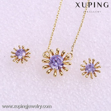 62066-xuping synthetic cz stone gold plated hot sale african jewelry set