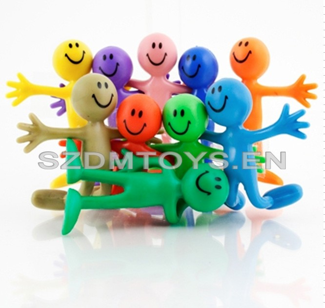 New design Custom 3D bendable toy expression pvc cartoon mini figures