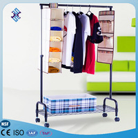clothes storage shelf foldable clothes hanging hanger organizer