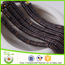 online wholesale 4*1 mm loose coconut shell natural spacer beads for rosary jewelry making