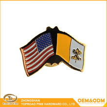 Wholesale custom cheap lapel pins no minimum national flag pin badge