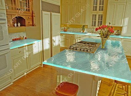 fused glass countertop for kichen furnitures