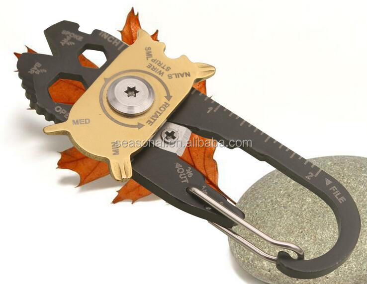 Outdoor Multi-function Pocket keychain,<strong>20</strong> in 1 EDC Survival gift screwdriver wrench Tool