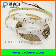 12V 30LED/m 150LED/pcs rgb color addressable flexible DMX LED strip light