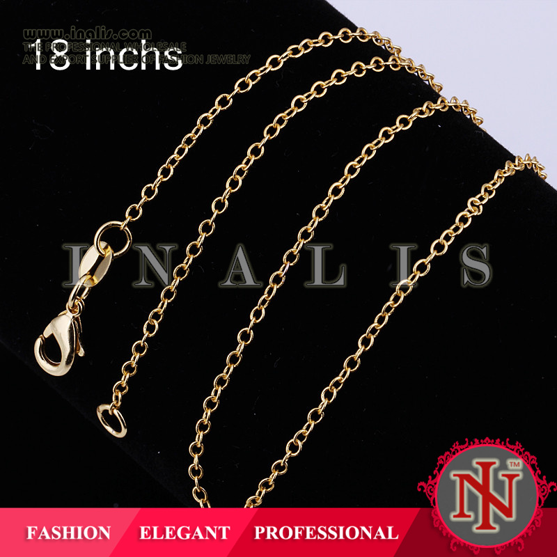 2014 SGS Certified custom long chain design gold plated C003