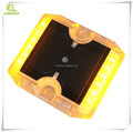 Free shipping 12pcs high brightness LED crystal PC plastic solar road stud