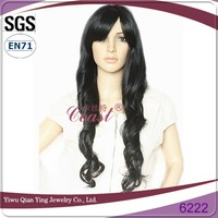 extra long black synthetic daily use wigs for white women