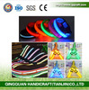 LED Flashing light up flat optic fiber elastic dog collar