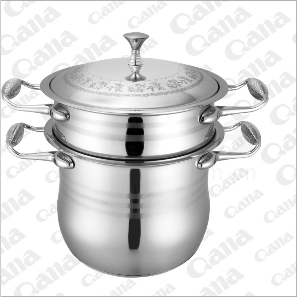 3-layer stainless steel couscous pot/stainless steel steamer