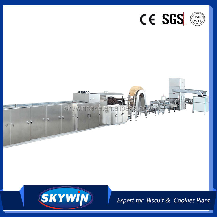 Top selling 2016 China 304 stainless steel biscuit wafer maker machine manufacturer