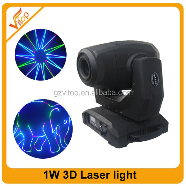 1w RGB 3D animation stage laser lighting,high quality mini 1w 3d laser in guangzhou