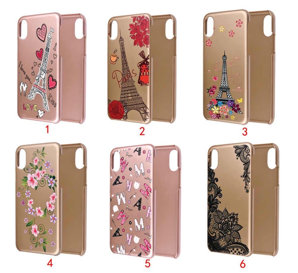 C&T Slim Fit Coated Light Weight Ultra Thin PC Hard Case Cute Eiffel Tower Pattern Back Cover for Apple iPhone 10