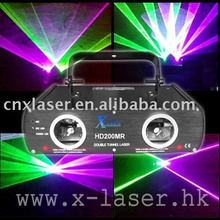 Club 200mw two tunnel purple green laser show projector