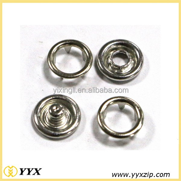 Brand quality brass spring snaps press snap button 18L 24L ring snap for clothing