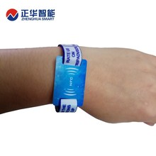 rfid hf nfc wristband event fabric wristband from China