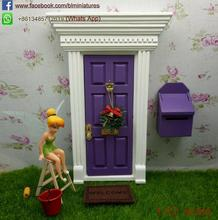 Purple lil fairy doors and windows Miniatures Elf Tooth Door boys inside fairy doors