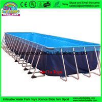Portable Giant Rectangular Metal Frame Pool Steel Plastic Swimming Water pools
