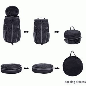 Creative design changeable foldable men daypack make your own sports duffle backpack with shoe compartment
