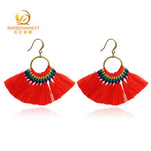 Fashion Design Stone Simple Stud Earrings Women, Charm Drop Tassel Earrings