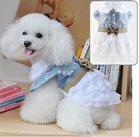 Wholesale dog wedding dress for summer dog sexy dress with lace