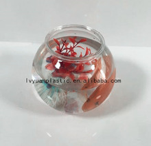Factory supply 1.2L plastic fish bowls for clear,pet round fish tank wholesale