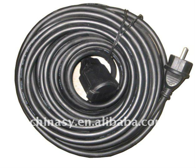 black extension cord