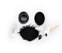 Organic Black Coconut Shell Activated Charcoal Teeth/Tooth Whitening Powder