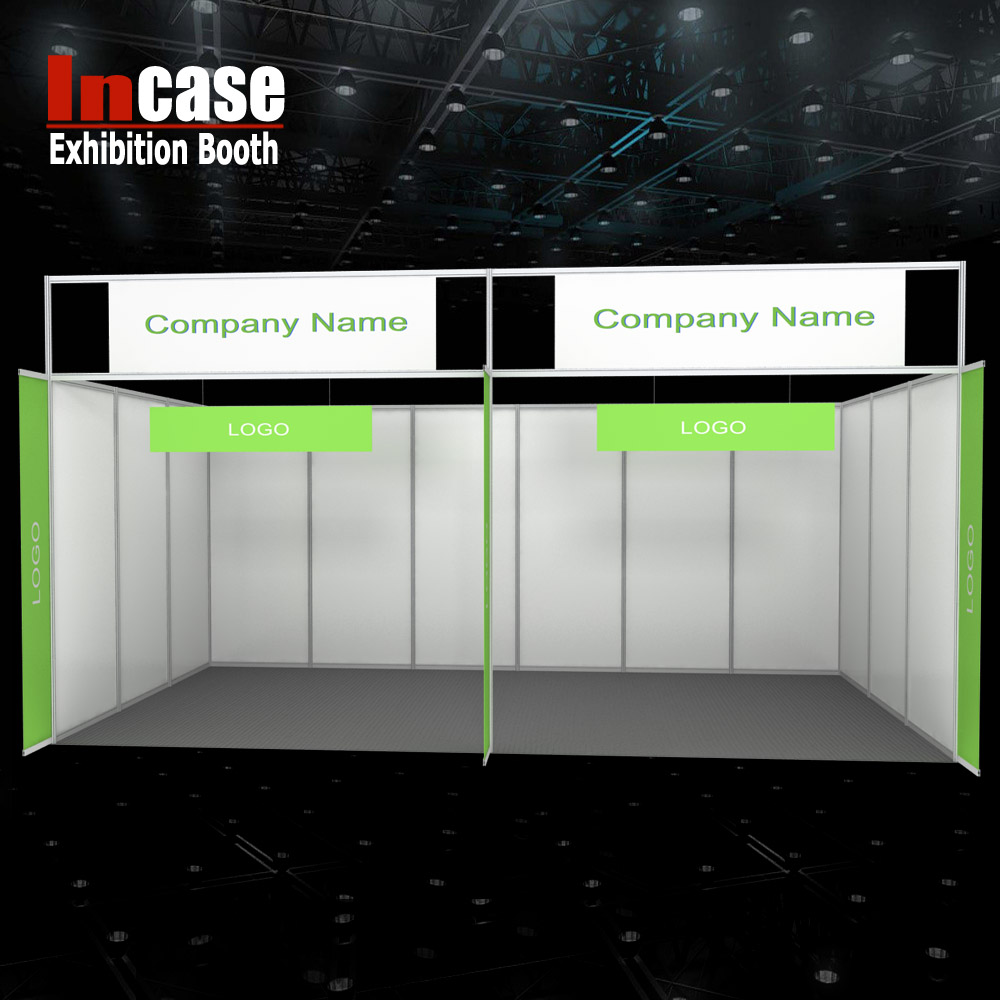 Incase Aluminum Shell Scheme Stand Portable Exhibition Booth System PVC Panel