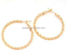 hoop earring 2013 fashion 18k gold plating basketball wives style copper hoop earring