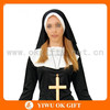 Taffeta sexy nun costume, sex nun costume, sexy nun for party cosplay
