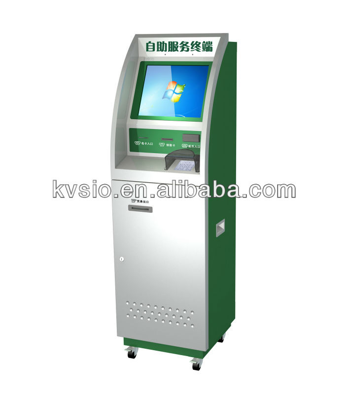 Customized Functionality Self-service Kiosk With Credit Card Readers, Touch Screens, Keyboard & Trackball And Printers.